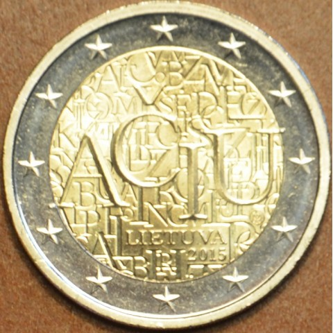 2 Euro Litva 2015 - Aciu: litovský jazyk (UNC)