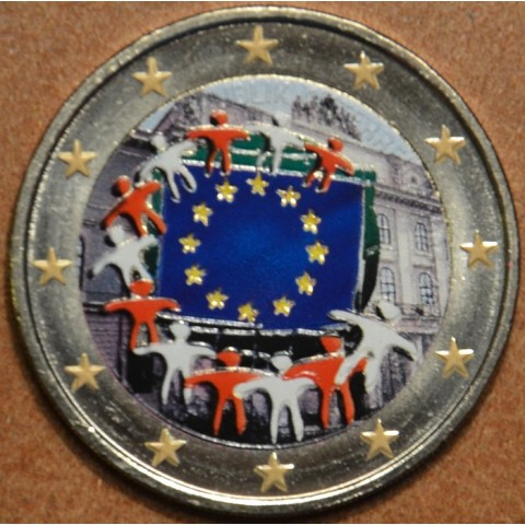 2 Euro Austria 2015 - 30 years of European flag (colored UNC)