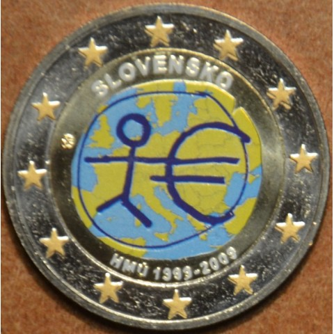 2 Euro Slovakia 2009 - 10th Anniversary of the Introduction of the Euro II. (colored UNC)