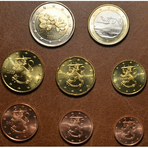 Set of 8 eurocoins Finland 2003 (UNC)