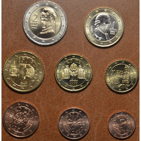 Set of 8 coins Austria 2008 (UNC)