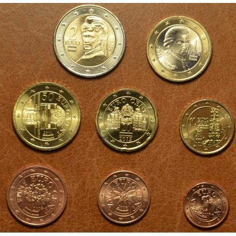 Sada 8 rakúskych mincí mix 2006-2013 (UNC)