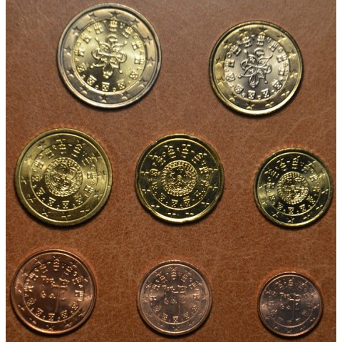 Set of 8 coins Portugal 2002 (UNC)