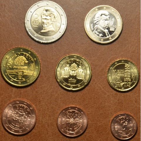 Set of 8 coins Austria 2010 (UNC)