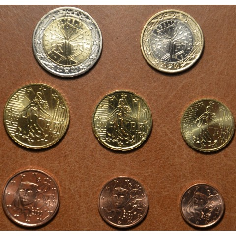 Set of 8 eurocoins France 2000 (UNC)