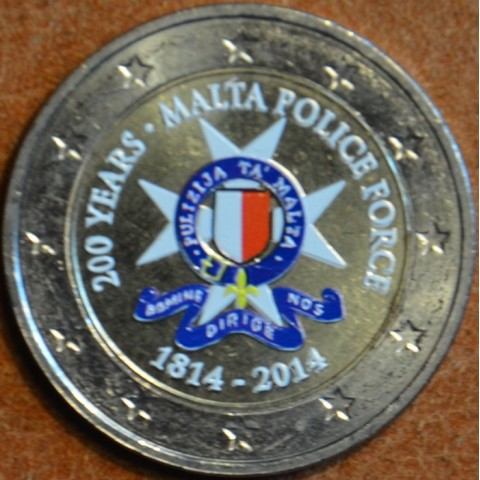 2 Euro Malta - 200 years Malta Police Force II. (colored UNC)