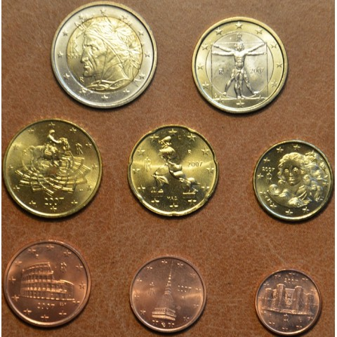 Sada 8 talianskych mincí 2007 (UNC)