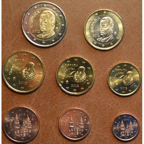 Set of 8 coins Spain 2012 (UNC)