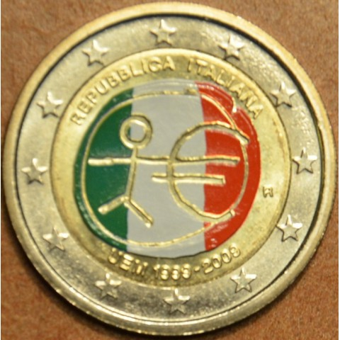 2 Euro Italy 2009 - 10th Anniversary of the Introduction of the Euro (colored UNC)