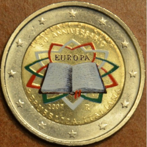 2 Euro Italy 2007 - 50th anniversary of the Treaty of Rome (colored UNC)