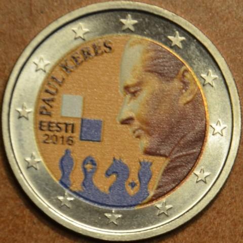 2 Euro Estónsko 2016 - Paul Keres (farebná UNC)