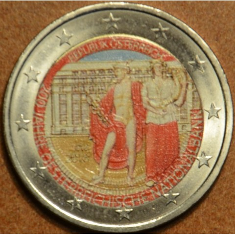 2 Euro Austria 2016 - 200 years of Austrian National Bank  (colored UNC)