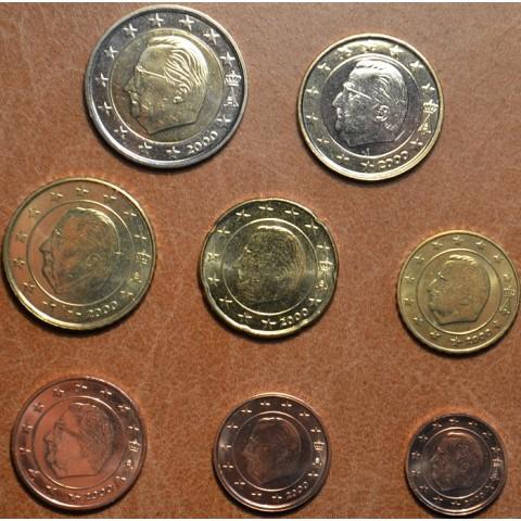 Sada 8 belgických mincí 2000 (UNC)