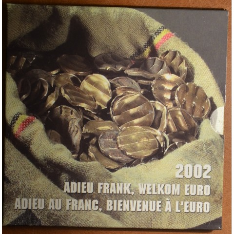 Official set of coins Belgium 2002 + frank coins (BU)