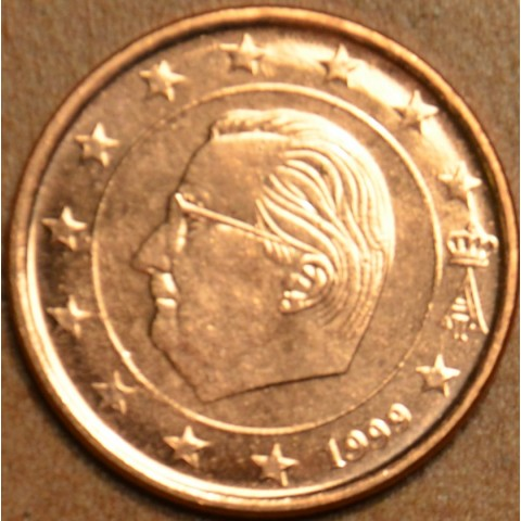 1 cent Belgicko 1999 (UNC)
