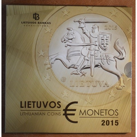 Official set of 8 coins of Lithuania 2015  (BU)