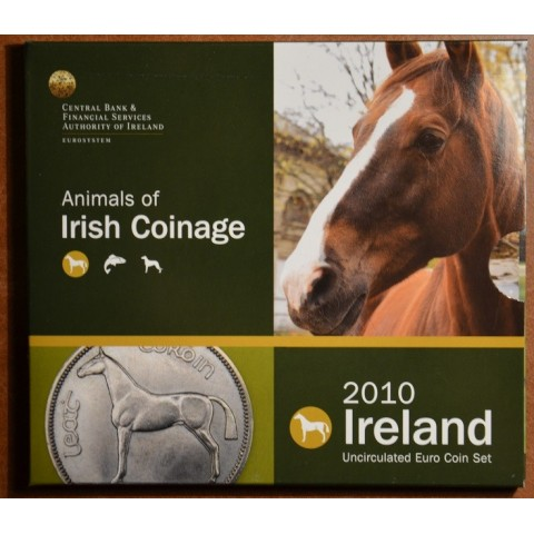 Official set of 8 Irish coins 2010  (BU)