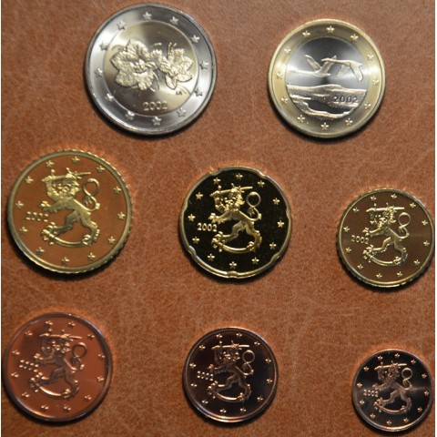 Set of 8 eurocoins Finland 2002 (UNC)