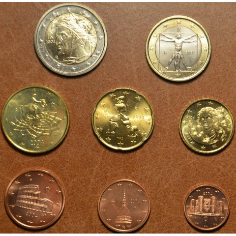 Sada 8 talianskych mincí 2004 (UNC)