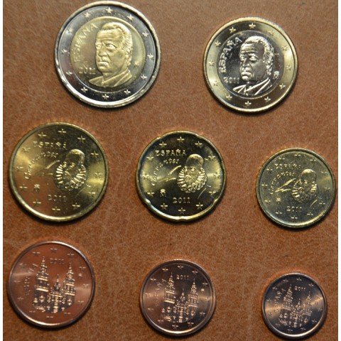 Set of 8 coins Spain 2011 (UNC)