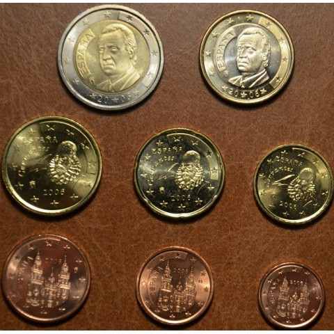 Sada 8 mincí Španielsko 2006 (UNC)