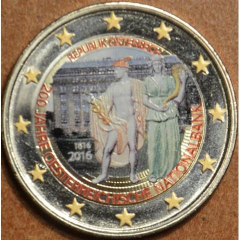 2 Euro Rakúsko 2016 - 200 rokov Rakúskej národnej banky II. (farebná UNC)