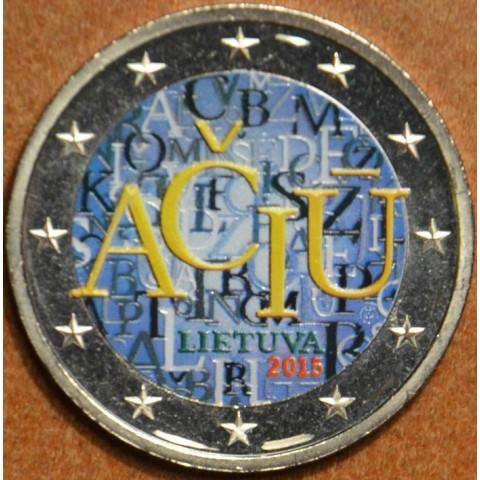 2 Euro Litva 2015 - Aciu: litovský jazyk (farebná UNC)