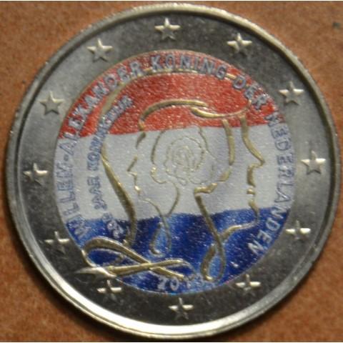 2 Euro Holandsko 2013 - 200 rokov kráľovstva III.  (farebná UNC)