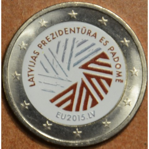 2 Euro Latvia 2014 - Latvian presidency of the EU II. (colored UNC)