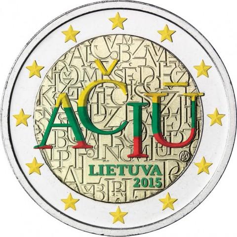 2 Euro Litva 2015 - Aciu: litovský jazyk II. (farebná UNC)