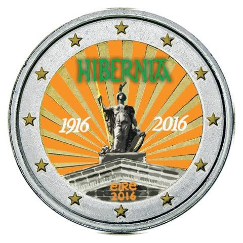 2 Euro Ireland 2016 - 100 years of Easter Rising  (colored UNC)