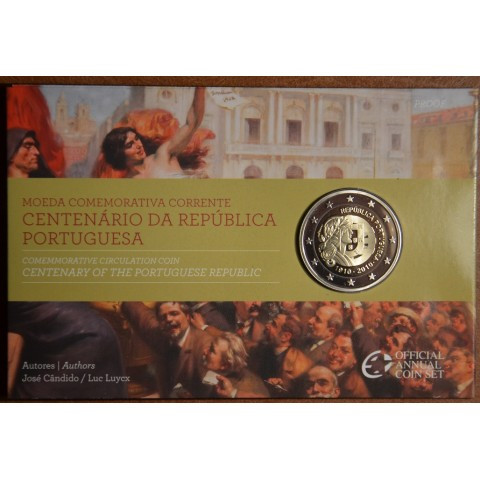 2 Euro Portugal 2010 - 100th anniversary of the Portugal Republic  (Proof)