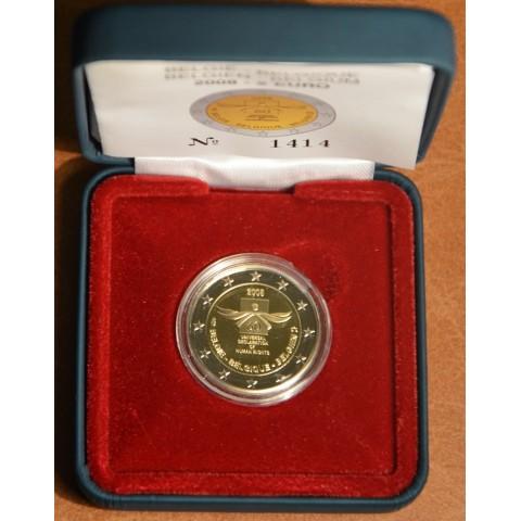 2 Euro Belgicko 2008 - 60. výročie Všeobecnej deklarácie ľudských práv (Proof)