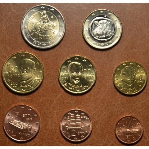 Sada 8 euromincí Grécko 2002 EFS (UNC)