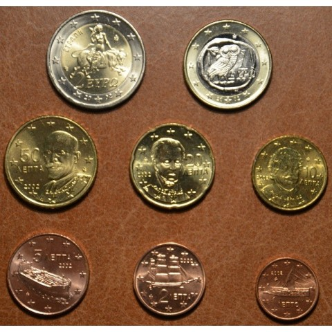Set of 8 eurocoins Greece 2002 EFS (UNC)