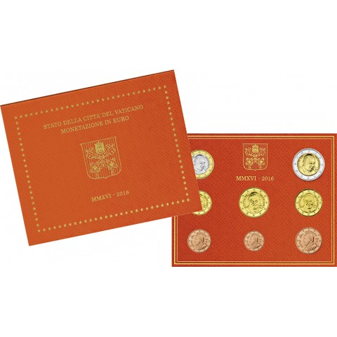 Set of 8 eurocoins Vatican 2016  (BU)