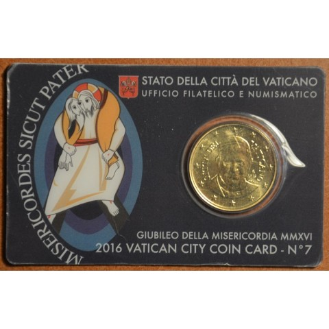50 cent Vatican 2016 official coin card No. 7 (BU)