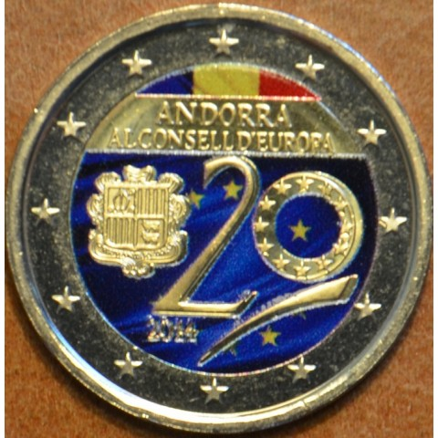 2 Euro Andorra 2014 - Admission to Council of Europe (colored UNC)