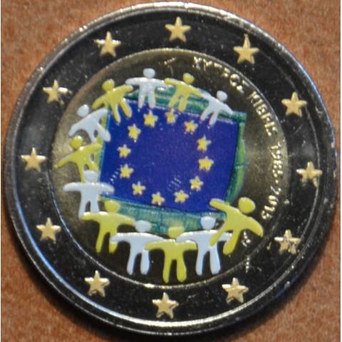 2 Euro Cyprus 2015 - 30 rokov Europskej vlajky  (farebná UNC)