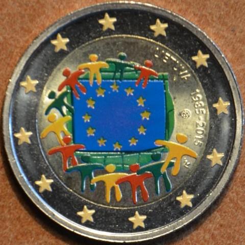 2 Euro Litva 2015 - 30 rokov Europskej vlajky  (farebná UNC)