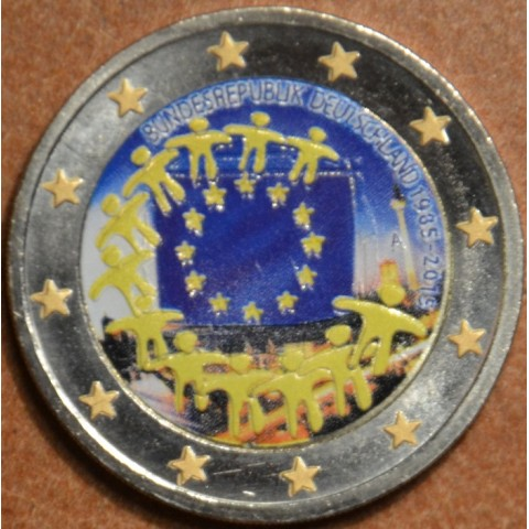"""2 Euro Germany """"A"""" 2015 - 30 years of European flag III. (colored UNC)"""