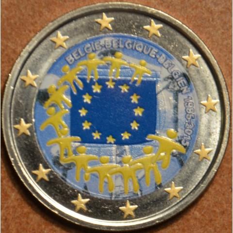 2 Euro Belgium 2015 - 30 years of European flag III. (colored UNC)