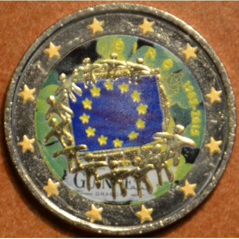 2 Euro Írsko 2015 - 30 rokov Europskej vlajky III. (farebná UNC)