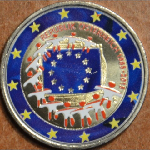 2 Euro Austria 2015 - 30 years of European flag II. (colored UNC)