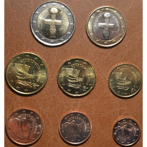 Set of 8 eurocoins Cyprus 2009 (UNC)