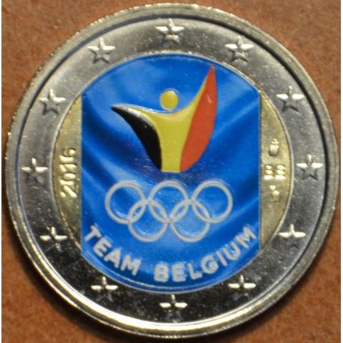 2 Euro Belgicko 2016 - Olympijský team Belgicka II. (farebná UNC)