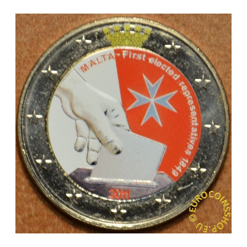 Malta 2 euro 2011  Constitutional history first election of representatives 1849