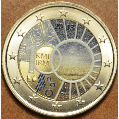 2 Euro Belgium 2013 - 100th anniversary of the Royal Meteorological Institute III. (colored UNC)