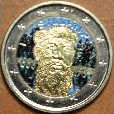 2 Euro Finland 2013 - 125th Anniversary of the birth of Nobel prize winning author F.E.Sillanpaa IV. (colored UNC)