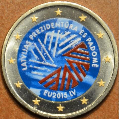 2 Euro Latvia 2014 - Latvian presidency of the EU III. (colored UNC)
